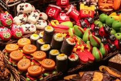 Süßigkeiten für Verkauf am lokalen Markt Stockfoto