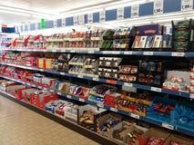 Süßigkeiten im Supermarkt Stockfotografie