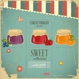 Süßigkeiten-Retro Auslegung Lizenzfreie Stockbilder