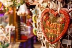 Süßigkeiten-Stall in Winter-Märchenland Lizenzfreies Stockbild