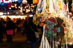 Süßigkeiten-Stall in Winter-Märchenland Stockfotos