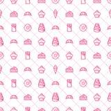 Süßigkeiten-und Bäckerei-nahtloses Muster - Vektor auf Lager Lizenzfreies Stockfoto
