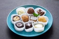 Süßigkeiten, Zusammenstellung von Pralinen Lizenzfreies Stockfoto