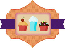 Süßigkeitenaufkleber Stockfoto