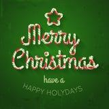Süßigkeits-frohe Weihnacht-Vektor-Beschriftung Lizenzfreie Stockfotografie