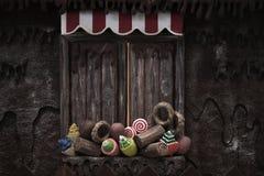 Süßigkeits-Haus Stockfotos