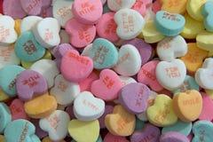 Süßigkeits-Herz-Valentinsgruß-Süßigkeit Lizenzfreies Stockfoto