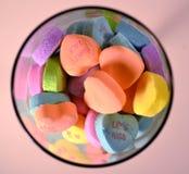 Süßigkeits-Herzen Lizenzfreies Stockbild
