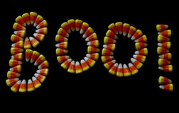 Süßigkeits-Mais BUH! lizenzfreies stockfoto