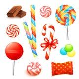 Süßigkeits-realistischer Satz lizenzfreie abbildung