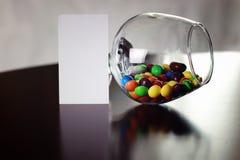 Süßigkeitsdragée im Glas Lizenzfreie Stockfotografie
