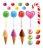 Süßigkeitset stock abbildung