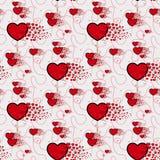Süßigkeitsherzen und Linie Mustervektor Nahtloses Vektormuster mit Lutschern Verpackung des Textilgewebe-Tapetendesigns stock abbildung