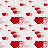 Süßigkeitsherzen und Linie Mustervektor Nahtloses Vektormuster mit Lutschern Verpackung des Textilgewebe-Tapetendesigns lizenzfreie abbildung