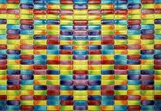 Süßigkeitskapselfarbmosaik Fliesen lizenzfreies stockbild