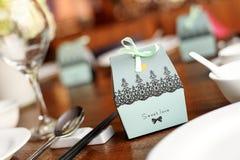 Süßigkeitskasten an der Hochzeit Stockbild