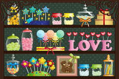 Süßigkeitssystem Stockfotografie