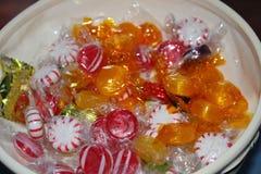 Süßigkeitsteller Stockfotos