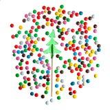 SüßigkeitsWeihnachtsbaumsauger und Farbbonbon lizenzfreie stockfotos