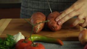 Süßkartoffel Quesadilla-Rezeptsatz stock video footage