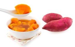 Süßkartoffelsuppe. stockbild