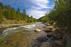 Süd-Boulder-Nebenfluss Lizenzfreies Stockbild
