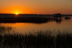 Süd-Carolina Sunset Stockbild