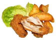 Süd-Fried Chicken Wings Lizenzfreies Stockfoto