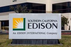 Süd-Kalifornien Edison Sign und Logo Stockfotografie