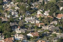 Süd-Kalifornien-Vororte Lizenzfreies Stockfoto