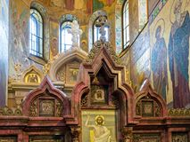 "Süd-kiot des Tempels des Retters auf verschüttetem Blut Heiliges †""Petersburg, Russland Lizenzfreies Stockbild"