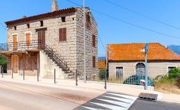 Süd-Korsika Alte rurar Häuser gemacht vom Stein Lizenzfreies Stockfoto