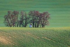 Süd-Moravian-Felder, Felder der Tschechischen Republik, moravian Hügel Stockfotos