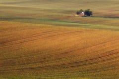 Süd-Moravian-Felder, Felder der Tschechischen Republik, moravian Hügel Lizenzfreies Stockbild
