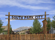 Süd-Park- Cityzeichen Lizenzfreies Stockfoto