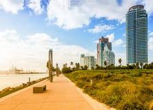 Süd-Pointe-Park im Miami Beach lizenzfreies stockbild
