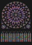 Süd-Rose Window Notre Dame Paris Lizenzfreie Stockfotos