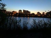 Süd-Saskatchewan-Fluss Lizenzfreie Stockbilder