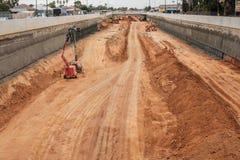 Süd- Straßenautobahnverbesserung in Adelaide, Süd-Australien Lizenzfreies Stockfoto