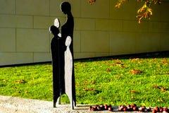 Süd-Styrian-Wein-Straße im Herbst, Statue lizenzfreies stockbild