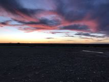 Süd-Texas Sunset Lizenzfreie Stockfotos