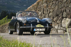Süd-Tirol klassischer cars_2014_Porsche 356 Sc-Cabriolet Stockfotografie