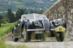 Süd-Tirol klassisches cars_2014_Jaguar XK 120 OTS Stockfotos