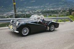 Süd-Tirol klassisches cars_2014_Triumph TR 3 stockbilder