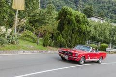 Süd-Tirol Rallye 2016_ Ford Mustang S_front Lizenzfreie Stockfotos