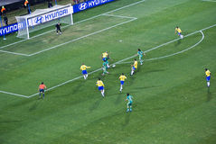 Südafrika gegen Brasilien - Cup 09 FIFA-Confed lizenzfreies stockbild