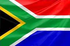 Südafrika-Markierungsfahne Lizenzfreie Stockfotografie