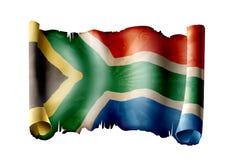 Südafrika-Markierungsfahne lizenzfreie abbildung