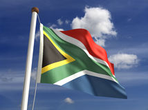 Südafrika-Markierungsfahne (mit Ausschnittspfad) Lizenzfreie Stockfotos
