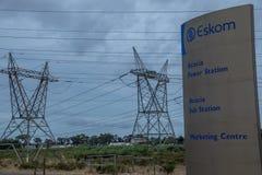 Südafrikanische Energie für den praktischen Gebrauch vor Einsturz stockbilder